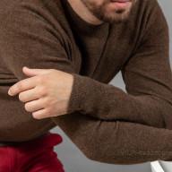 Джемпер коричневый мужской