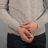Пуловер из шерсти яка мужской серый