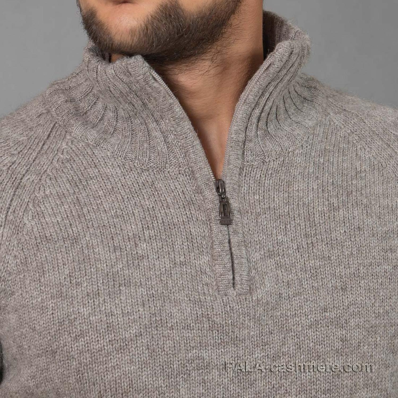 Джемпер шерсть яка серый