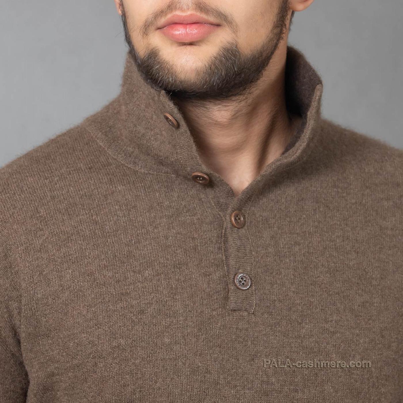 Джемпер мужской из шерсти яка высокое горло