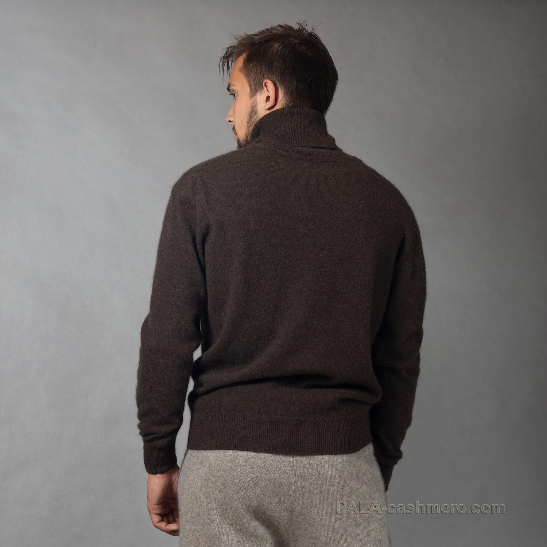 Свитер шерсть яка коричневый