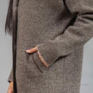 Пальто из шерсти яка с карманами