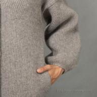 Кардиган из шерсти яка женский теплый