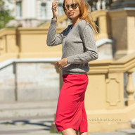 Пуловер женский из 100% шерсти яка