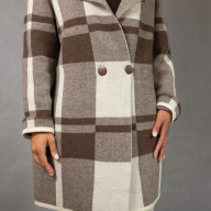 Female knitted coat with buttons