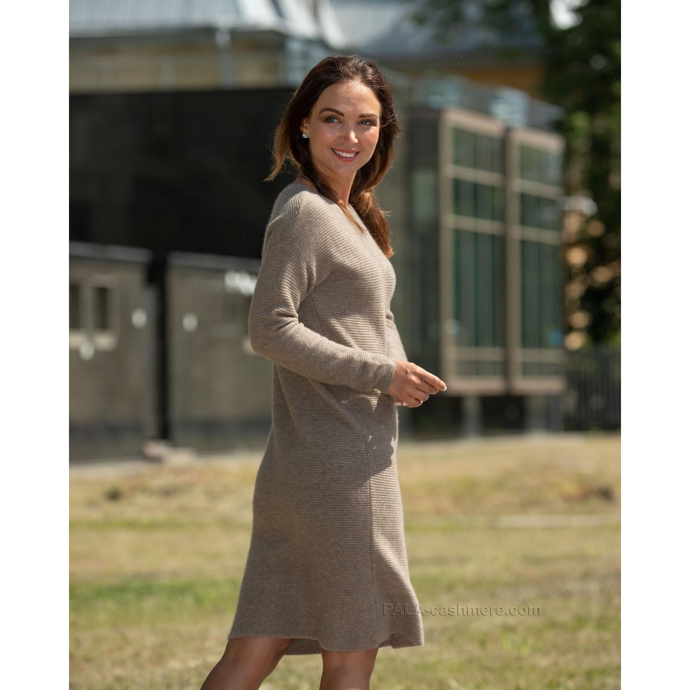 Платье кашемир бежевое