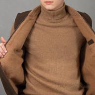 Жилет из шерсти верблюда мужской коричневый