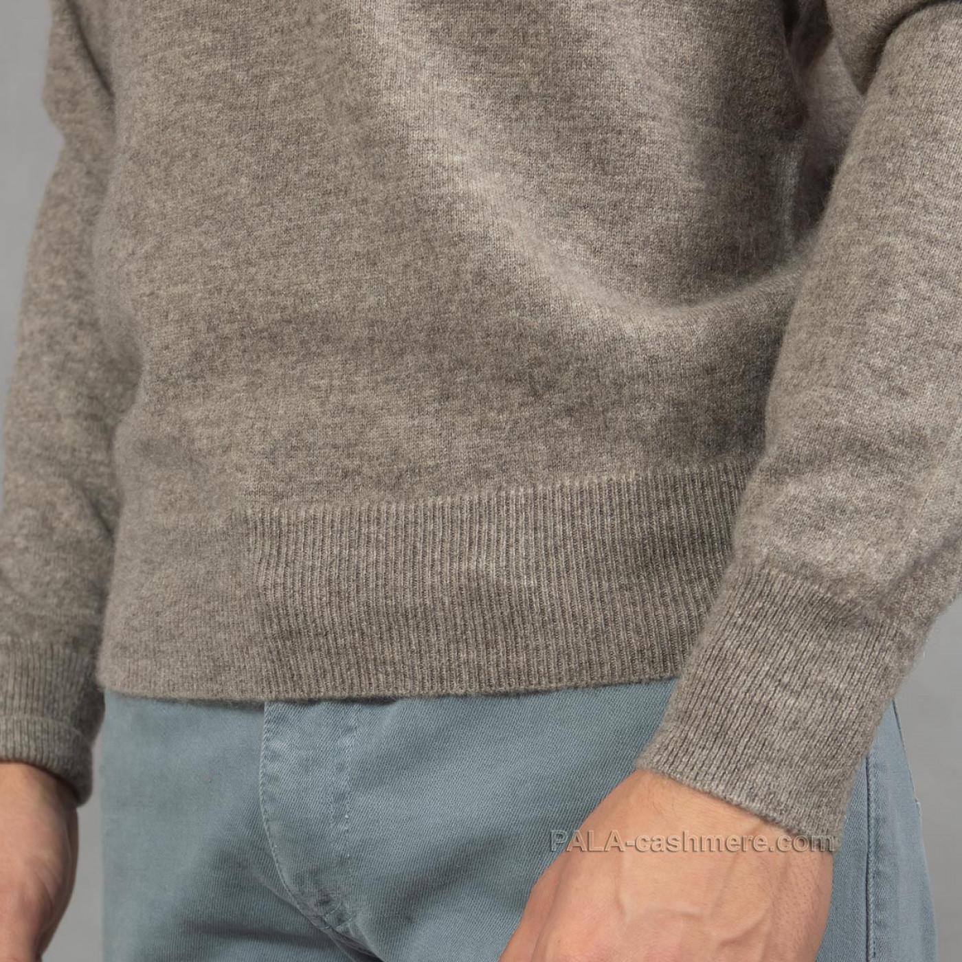 Серый шерстяной джемпер