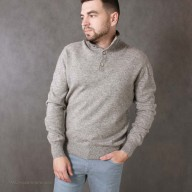 Jumper male from wool yak with a collar-stand on buttons