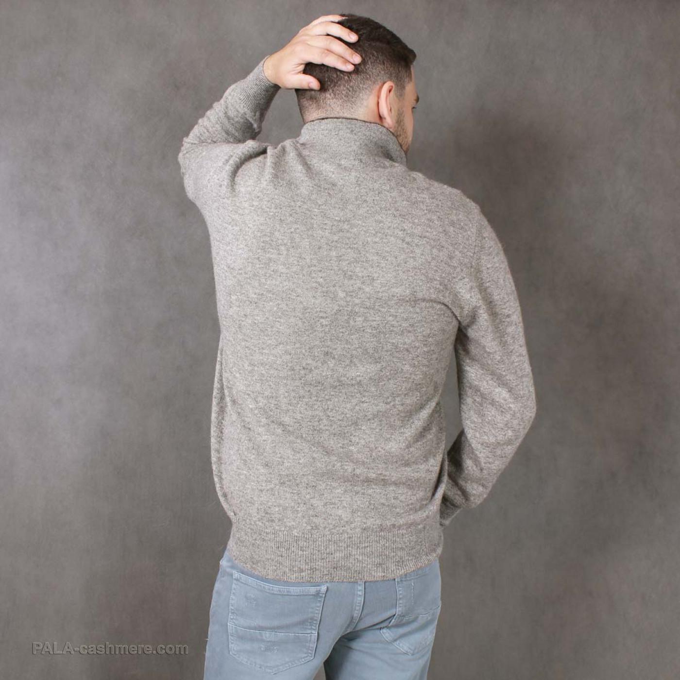Джемпер шерсть яка с воротником-стойкой