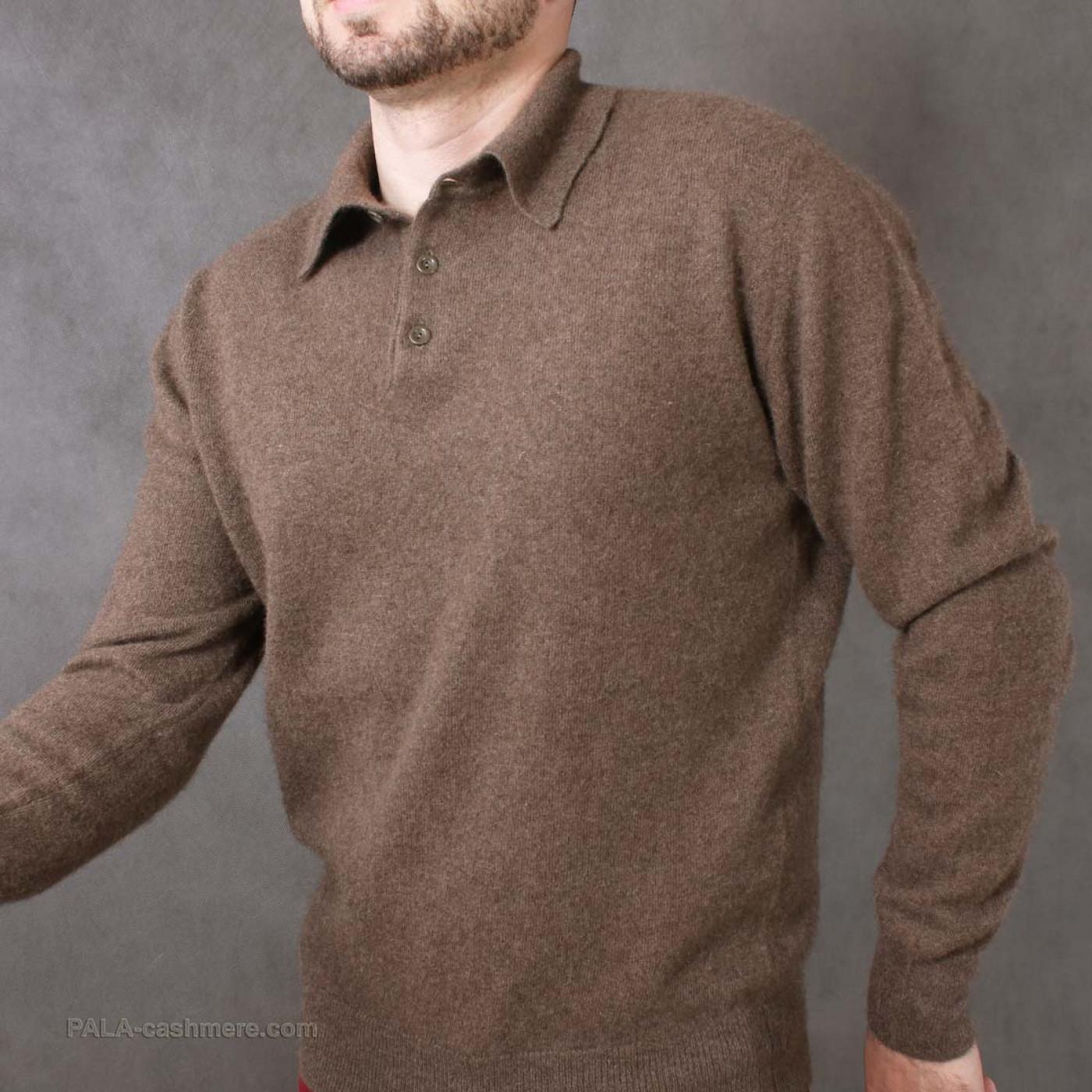 Джемпер на пуговицах мужской шерсть яка