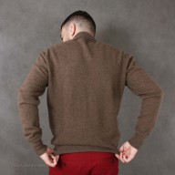 "Jumper male from wool yak with buttons ""coffee"""