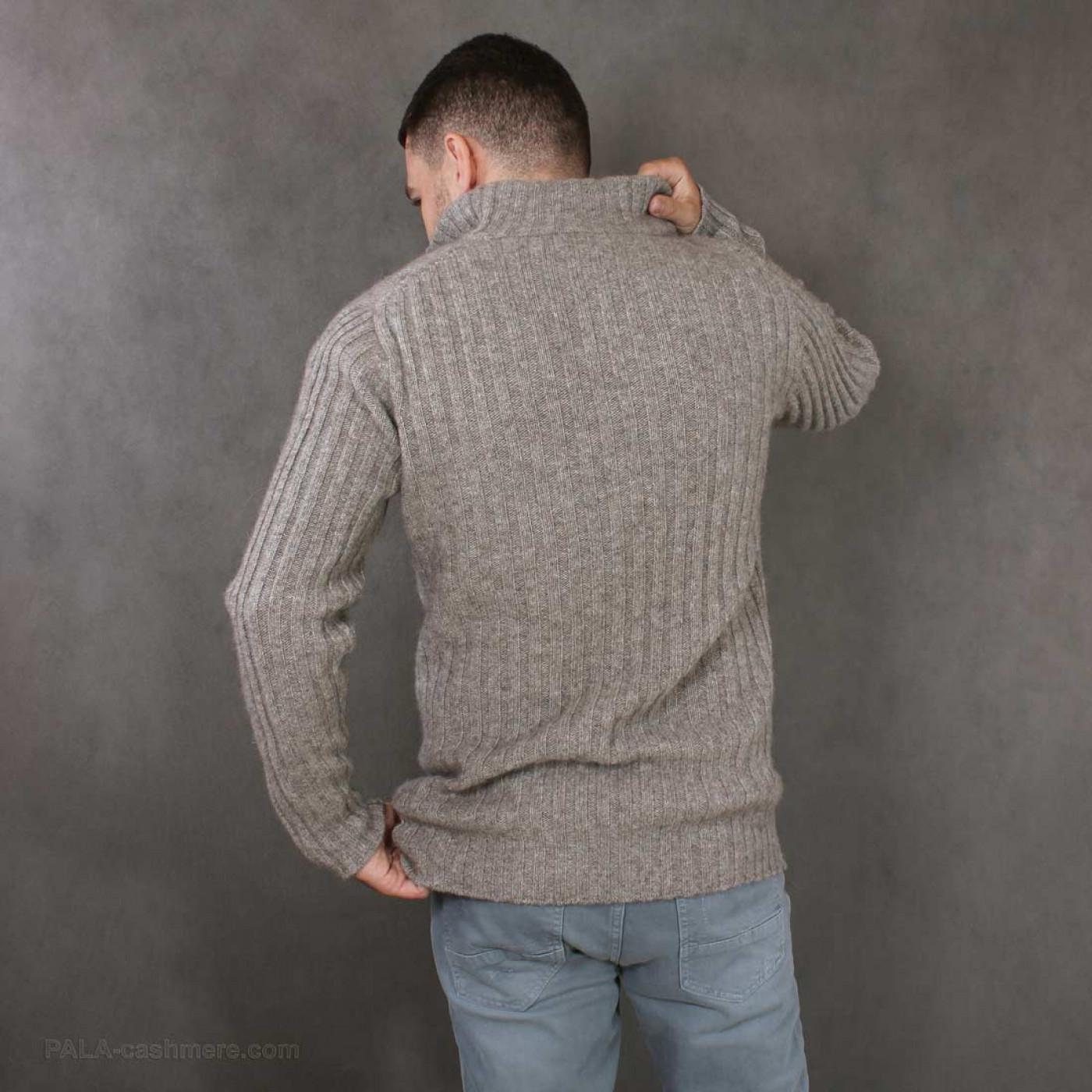 Джемпер мужской из шерсти яка на пуговицах