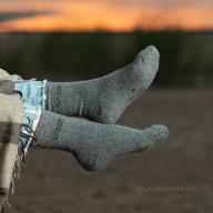Socks grey yak wool