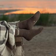 Brown socks made of yak wool