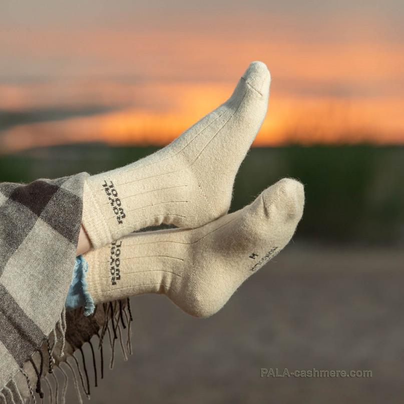 Носки шерстяные из шерсти верблюда
