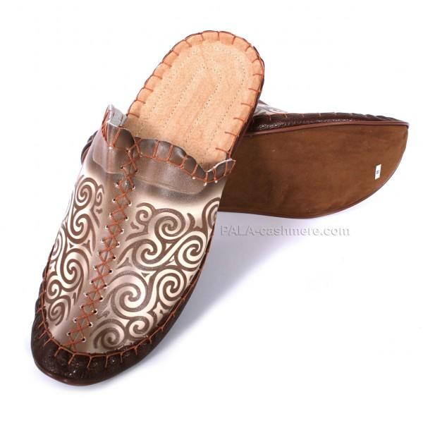 Обувь домашняя кожаная