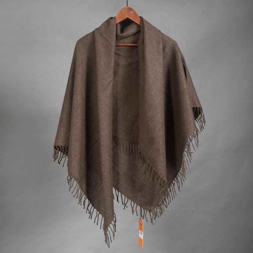 Платок коричневый из шерсти яка