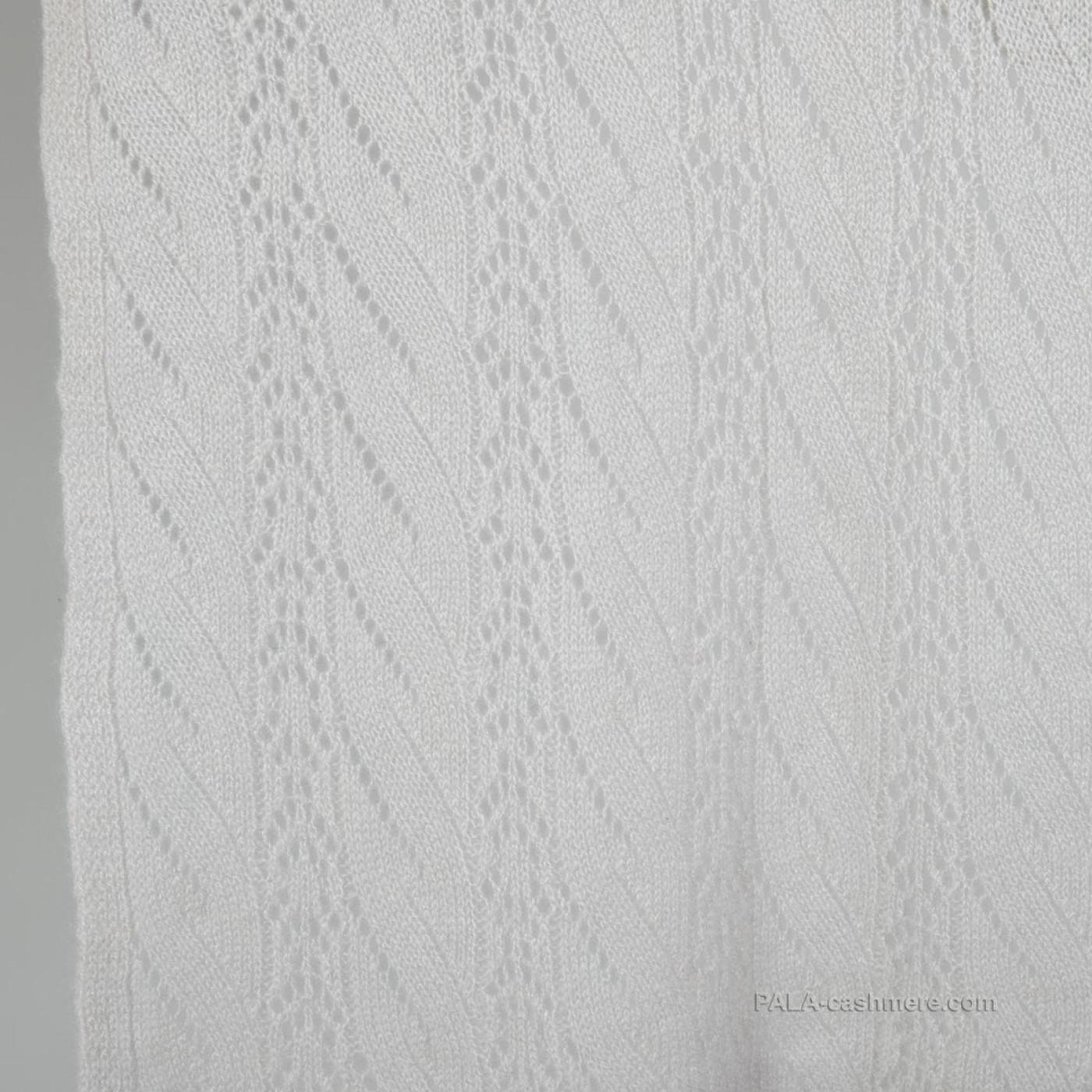 Кашемировый палантин серый