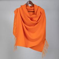 Женский оранжевый кашемировый палантин