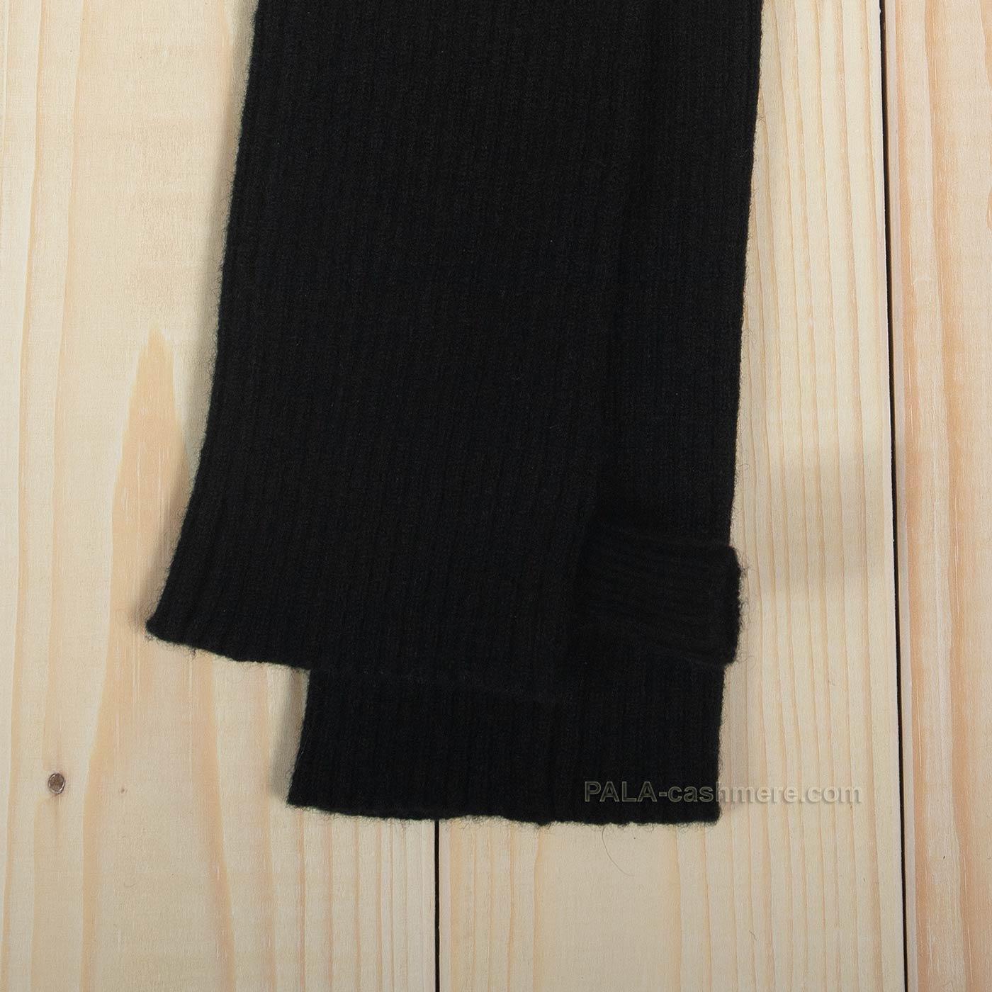 Кашемировые черные митенки