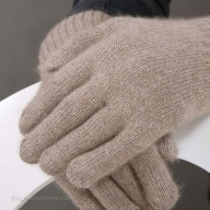 Перчатки кашемировые темно-бежевые
