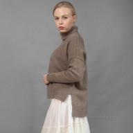 Женский кашемировый бежевый свитер