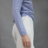 Однотонный пуловер кашемир
