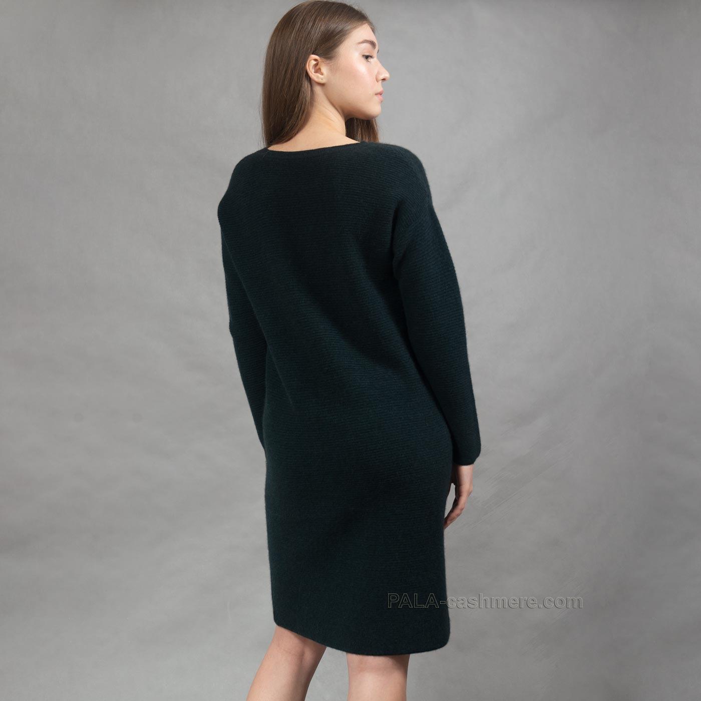 Платье из кашемира однотонное