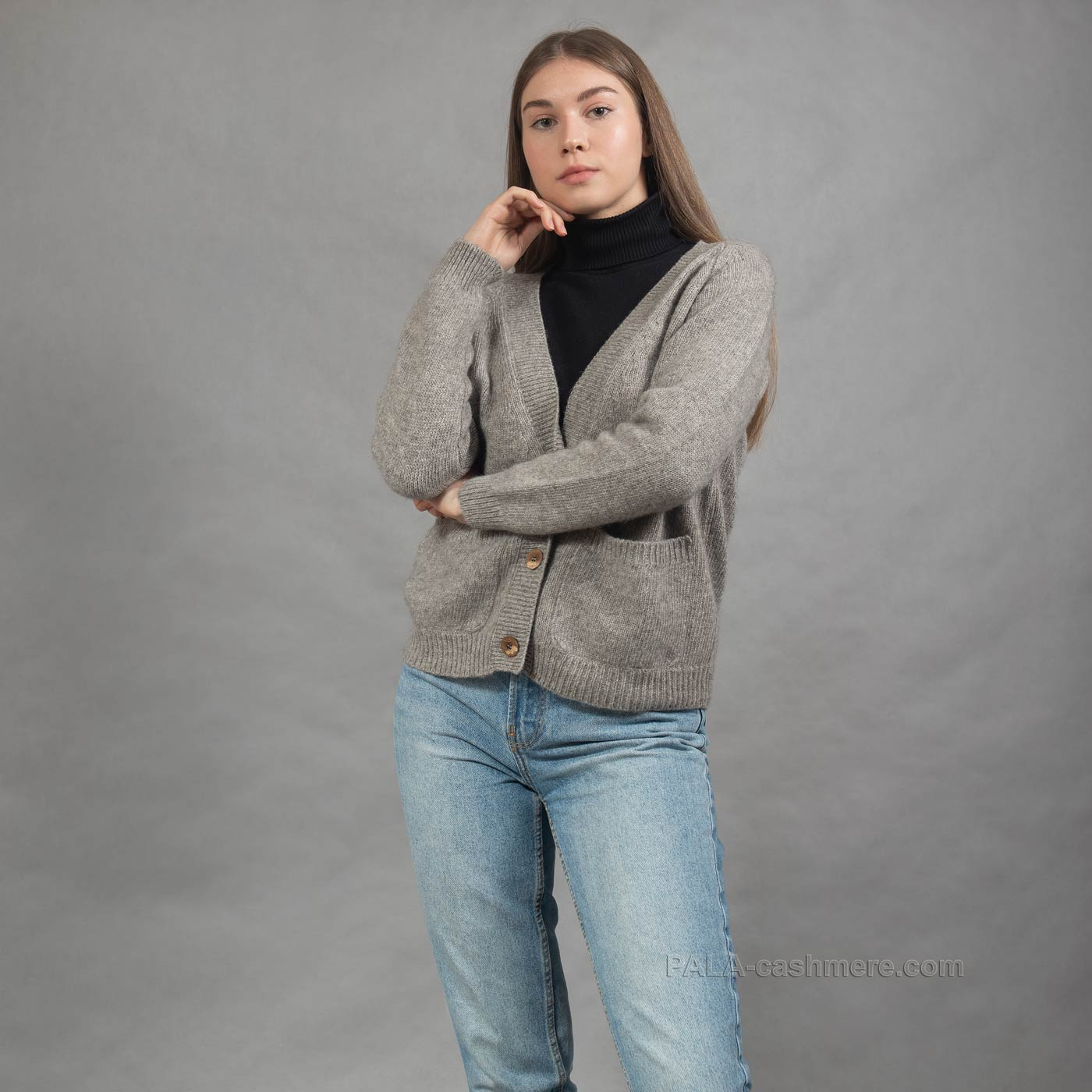 Женский кардиган с карманами