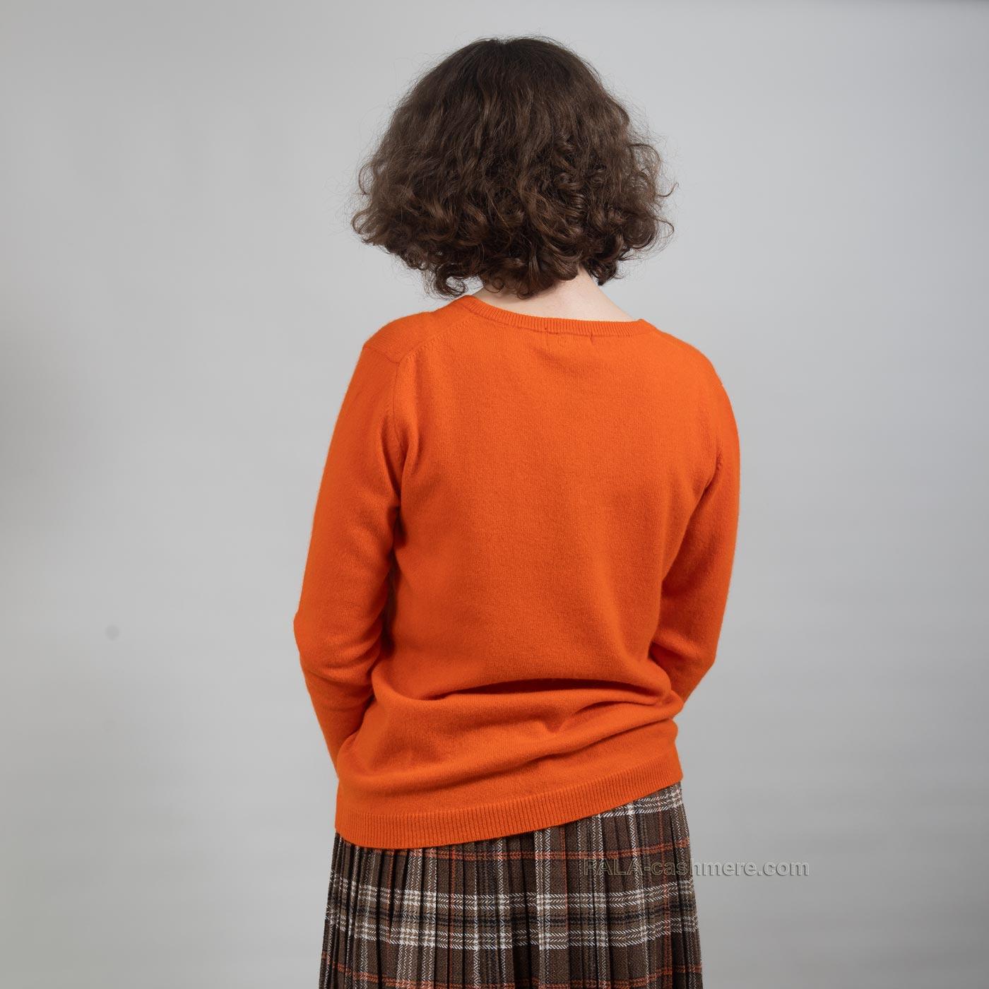 Однотонный женский пуловер