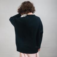 Женский кашемировый темно-зеленый джемпер