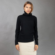 Кашемировый черный свитер