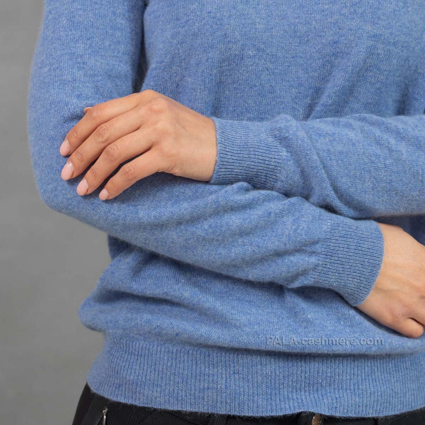 Голубой кашемировый джемпер