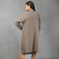 Пальто женское из шерсти яка и овечьей на кнопках