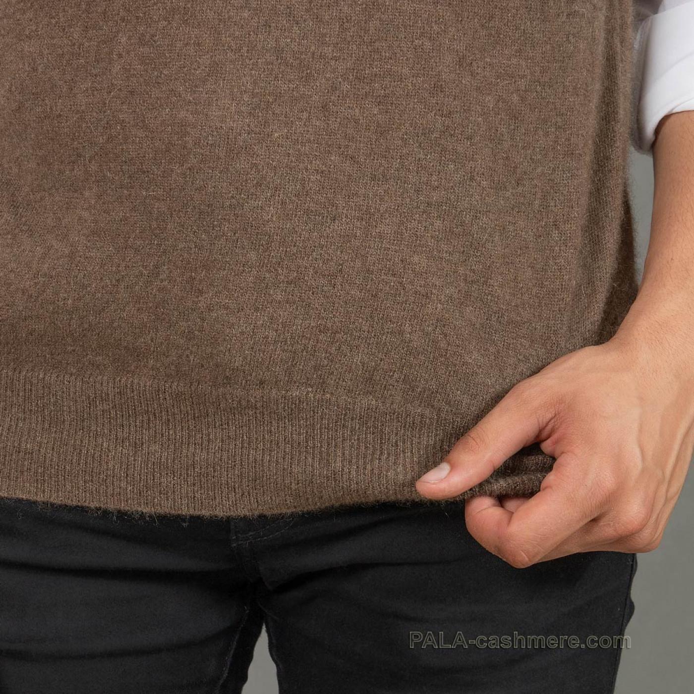 Трикотажный мужской жилет из шерсти яка