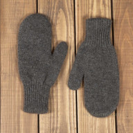 Mittens of yak wool cappuccino