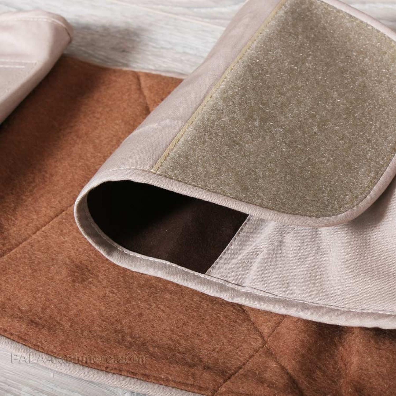 Пояс из верблюжьей шерсти комбинированный на липучке