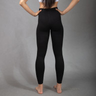 Leggings black from sheep's wool