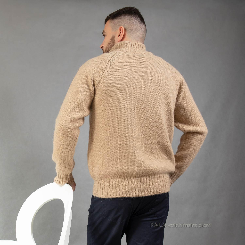 Джемпер на молнии из верблюжьей шерсти