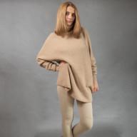 Свитер из верблюжьей шерсти удлиненный