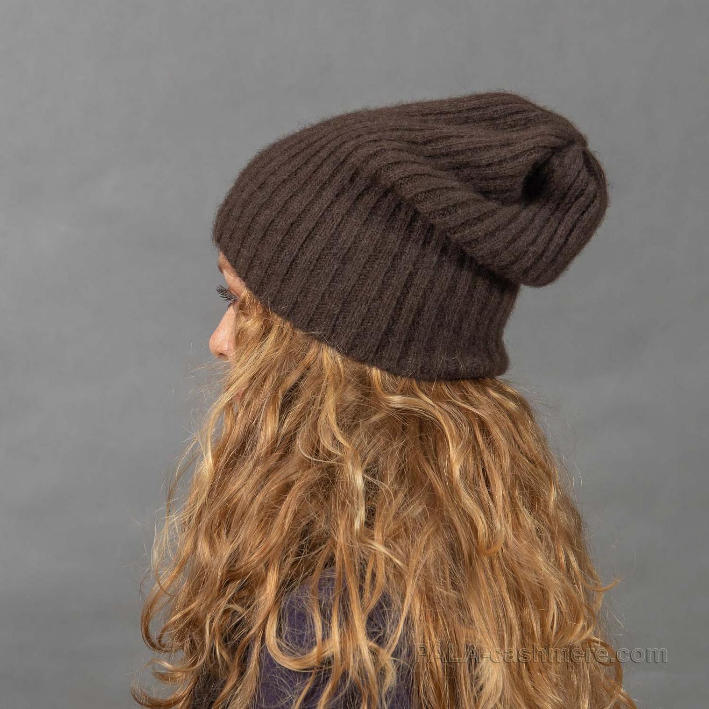 Осенняя шапочка из шерсти яка
