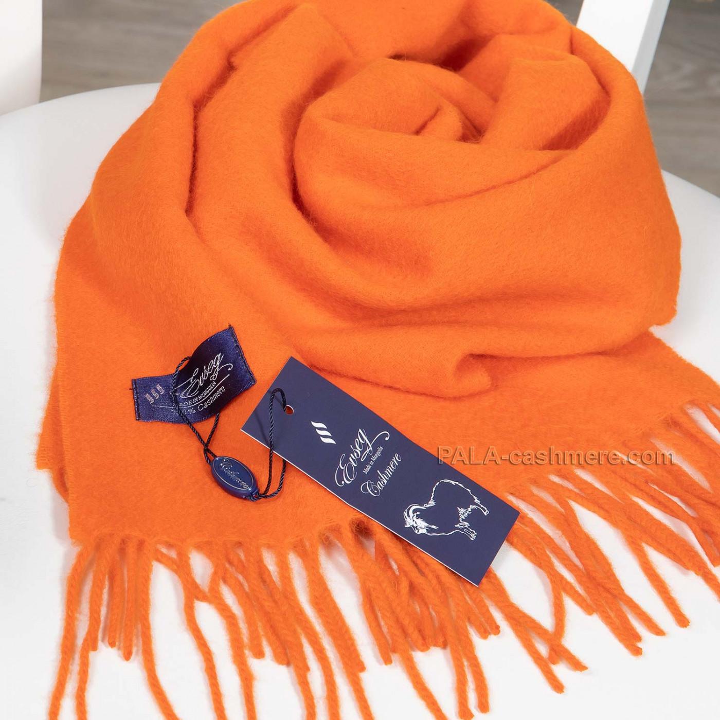 Шарф кашемировый оранжевый