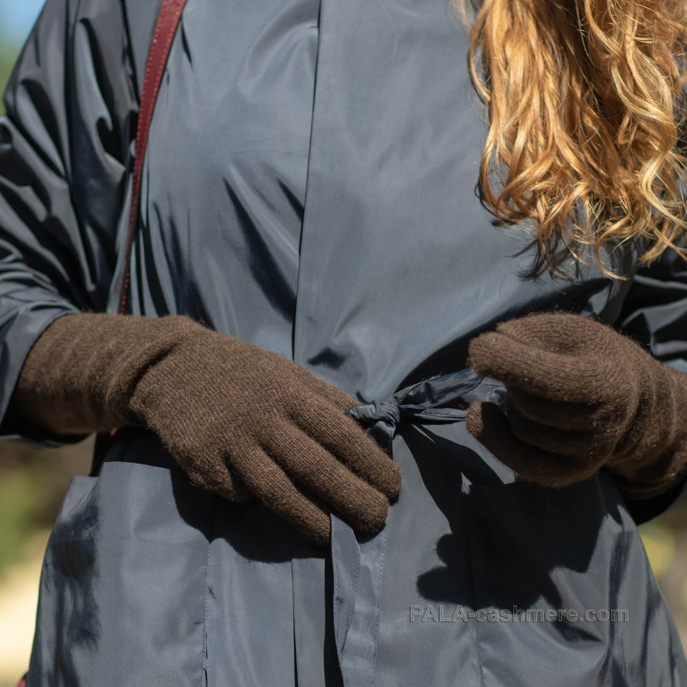 Длинные перчатки из шерсти яка