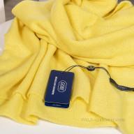 Палантин из кашемира желтый