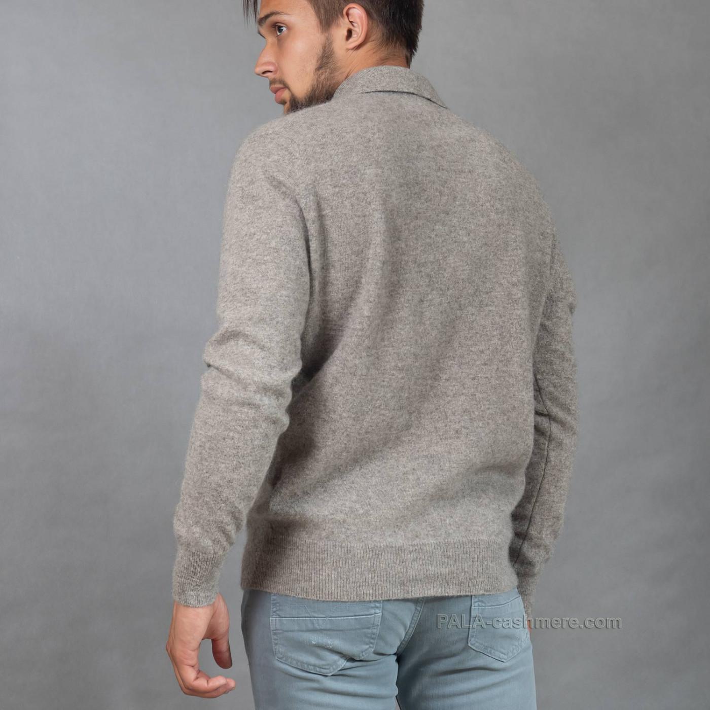 Серый джемпер из шерсти яка