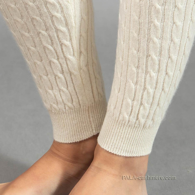 Кашемировые леггинсы белые