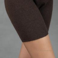 Коричневые шорты из шерсти яка женские