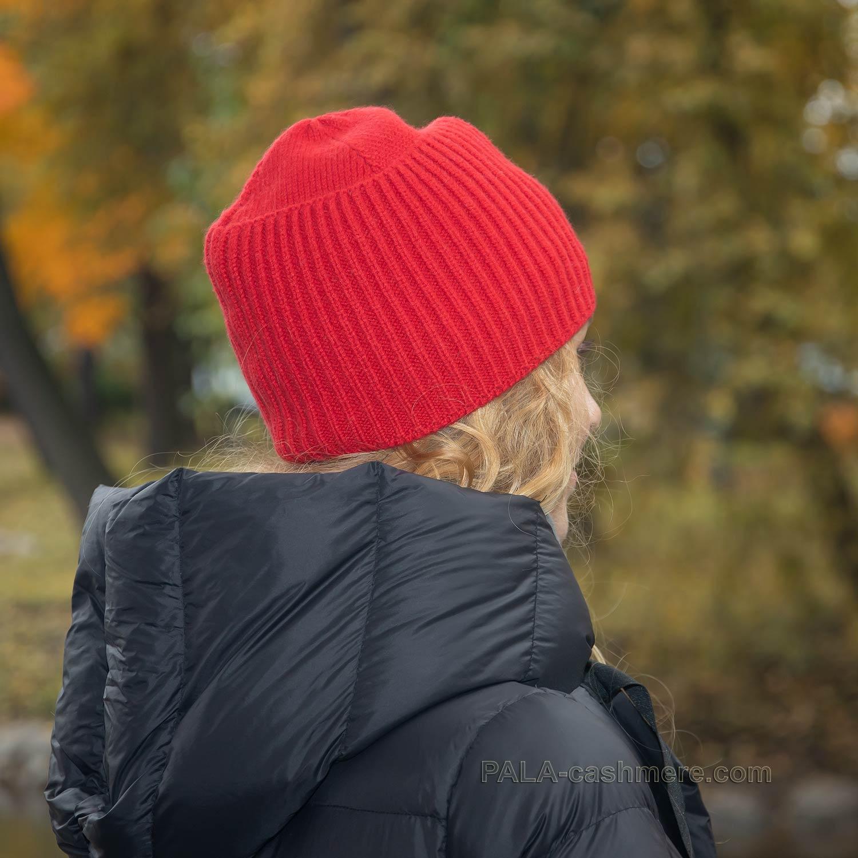 Красная шапка кашемир