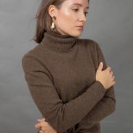 Свитер из шерсти яка женский цвета капучино